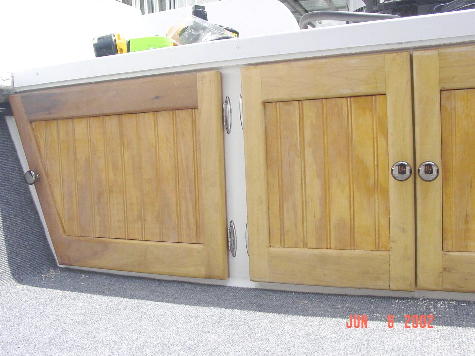 Rear Storage Doors At Transom Bulkhead